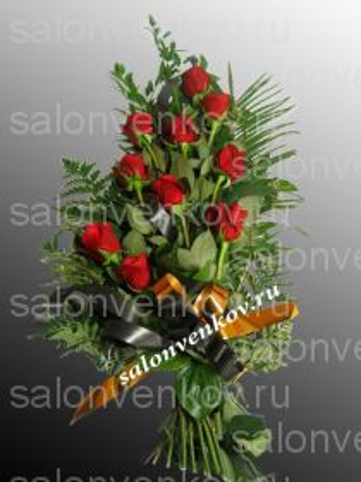 Траурный букет из живых цветов N8